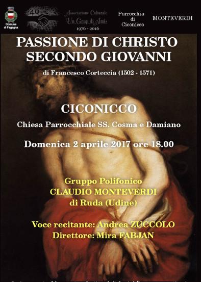 Concerto: Passione di Christo secondo Giovanni - coro Monteverdi