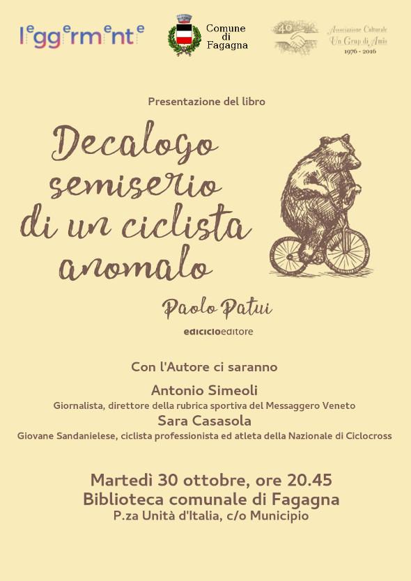 """Presentazione del libro """"Decalogo semiserio di un ciclista anomalo"""""""